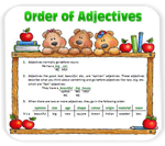 Unit 34: - Adjective Order